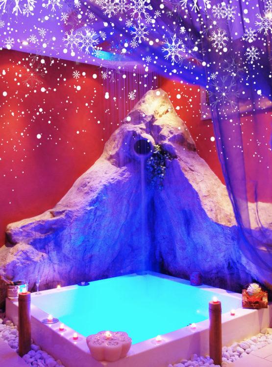 Christmas Spa con neve